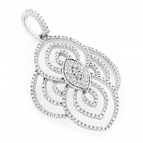 Elegant 14K Gold Ladies Diamond Pendant 0.4ct