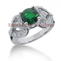 Emerald Engagement Rings: 14K Gold Diamond Ring 0.54ctd 2cte