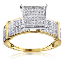 Engagement Rings For Cheap: 10K Gold Ladies Diamond Engagement Ring 0.45ct