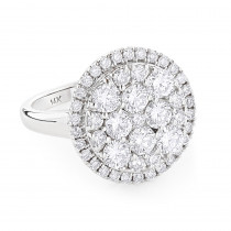 Engagement Rings: Ladies Cluster Diamond Ring 2.84ct 14K
