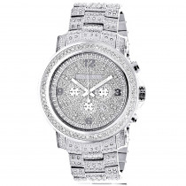 Fully Iced Out Large Diamond Watch for Men by Luxurman Escalade 3.5ct