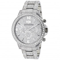 Fully Iced Out Watches: Luxurman Mens Diamond Watch 3 carats Liberty