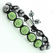 Green Rhinestone Bracelet - Disco Ball Jewelry