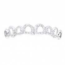Hip Hop Jewelry Designs: Solid 10K Gold Diamond Cut Out Style Grillz 0.62ct