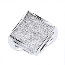 Hip Hop Jewelry: Mens Diamond Ring 0.62ct 10K Gold