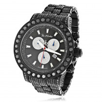 Hip-Hop Watches: Custom Joe Rodeo Mens Black Diamond Watch 36.7ct