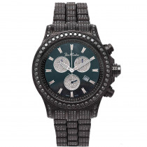 Hip Hop Watches Joe Rodeo Mens Black Diamond Watch 26.7