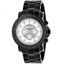 Hip Hop Watches: Oversized Luxurman Escalade Mens Black Diamond Watch 3/4ct