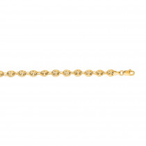 Hollow 14k Gold Gucci Chain For Men & Women Mariner Puffed 4.5mm Wide