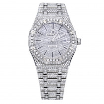Iced Out Audemars Piguet Royal Oak Offshore Men's Diamond Watch 20ct