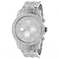 Bust Down Watches Fully Iced Out Luxurman Mens Diamond Watch 4 Carat Raptor
