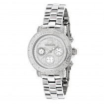 Iced Out Diamond Watches 0.3ct Luxurman Diamond Watch For Women