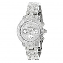 Iced Out Diamond Watches 1.5ct Luxurman Montana Diamond Watch For Women