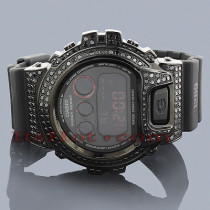 Iced Out G-Shock Watch Black Diamond Simulation DW6900