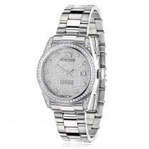 Iced Out Luxurman Women's Diamond Watch Tribeca 1.5ct