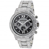 Iced Out Mens Watch with Diamond Band 1.25ct Luxurman Liberty