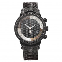 Iced Out Watches: Joe Rodeo Black Diamond Watch 25ct