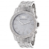 Iced Out Watches: Luxurman Mens Diamond Watch 1.25ct