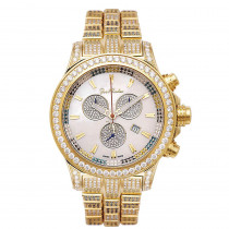 Iced Out Watches Mens Joe Rodeo Watch 26.7ct Yellow