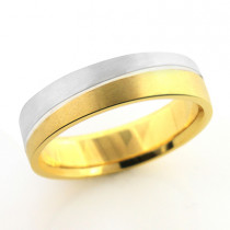 Inverse  Mens Wedding Band 14K Gold