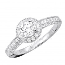 14K Designer Diamond Engagement Ring 0.93ct