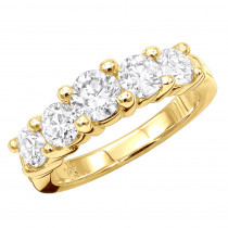 Thin 14K Gold Designer Diamond Engagement Ring Band 1.61ct