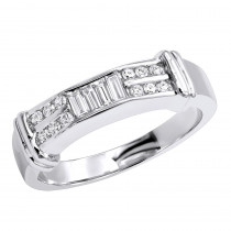 14K Gold Diamond Men's Wedding Ring 0.62ct