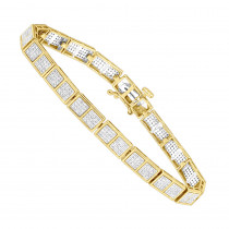 14K Gold Ladies Pave Diamond Bracelet 1.23ct