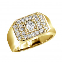 14K Gold Men's Diamond Ring 1.07ct