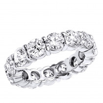 14K Gold Round Diamond Eternity Band 5.85ct