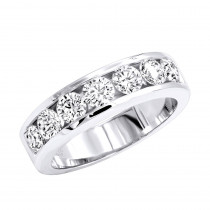 14K Gold Round Diamond Men's Wedding Ring 2.10ct