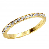 Stackable Rings Ultra Thin 14K Gold Unique Diamond Engagement Band 0.21ct