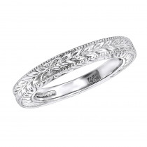 Thin 14K Gold Vintage Wedding Band for Women