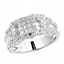 14K Pave Diamond Engagement Ring 1.30ct