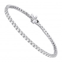 14K Gold Round Diamond Tennis Bracelet for Women 3.55ct with 4 Prong Setting
