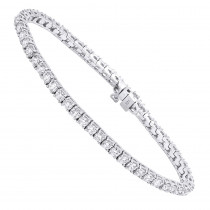 14K Round Diamond Tennis Bracelet 5ct