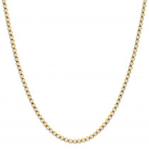 14K Gold Round Prong Set Mens Diamond Chain Necklace 13ct