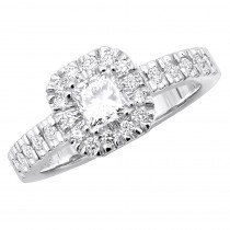 18K Gold Diamond Engagement Ring 1.11ct
