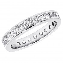 Thin 18K Gold Diamond Eternity Band 1.25ct