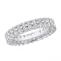 18K Gold Diamond Eternity Band 1.74ct