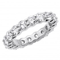 18K Gold Diamond Eternity Band 3.40ct