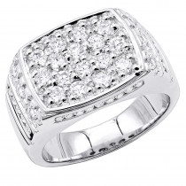 18K Gold Men's Diamond Ring 2.68ct