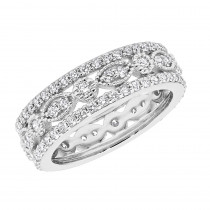 18K Gold Tacori Style Diamond Full Eternity Ring 1.81c