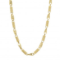 Diamond Chains: 14K Gold Diamond Necklace 7.08ct