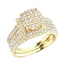 Affordable 1 Carat Diamond Engagement Ring Set in 14K Gold