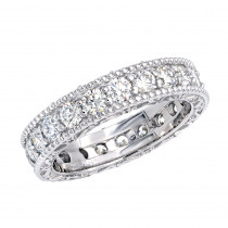 Diamond Platinum Eternity Band 2.40ct