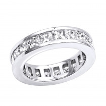 Thin Diamond Platinum Eternity Ring 3.57ct