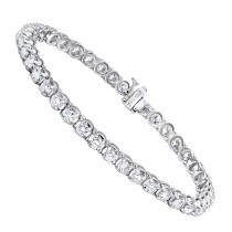 Diamond Tennis Bracelet 5.50ct - 14K Gold Round Prong