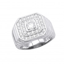 Mens Diamond Ring in Platinum 1.31ct VS Quality Statement Ring