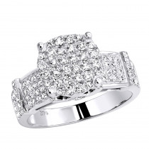 Pave Diamond Engagement Ring 0.82ct 14K